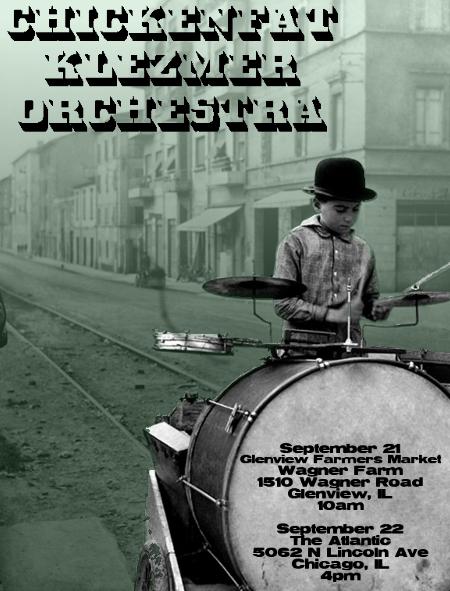 ChickenFat Klezmer Orchestra concerts September 2013
