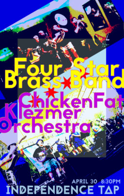 Four Star Brass and ChickenFat Klezmer Orchestra at Independence Tap